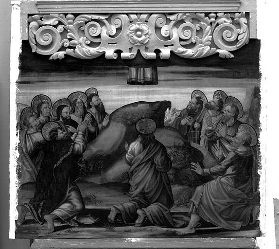 Panneau peint du retable de la Vierge : L'Ascension