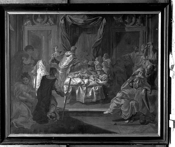 Peinture sur toile : L'extrême onction, avant restauration