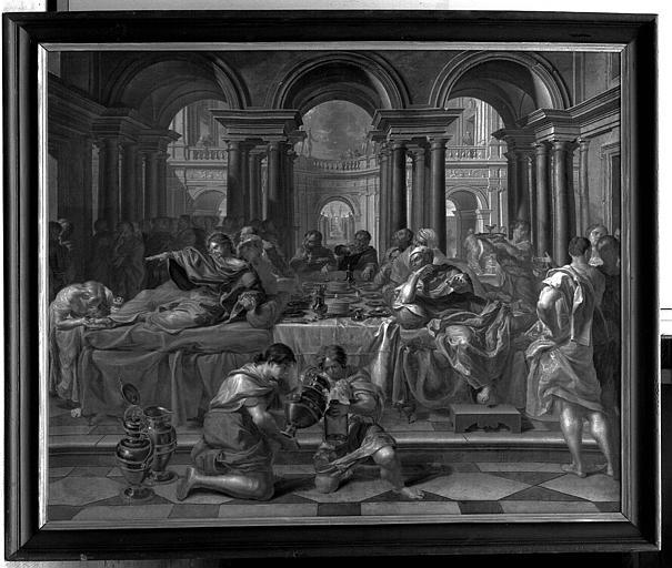 Peinture sur toile : La Pénitence ou le repas chez Simon