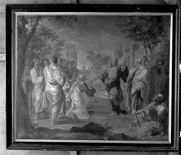 Peinture sur toile : L'Ordination ou la remise des clés à saint Pierre