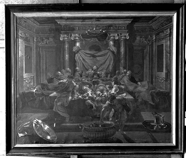 Peinture sur toile : L'Eucharistie ou la Cène