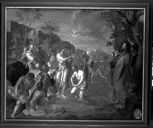 Peinture sur toile : Le Baptême ou le Baptême du Christ