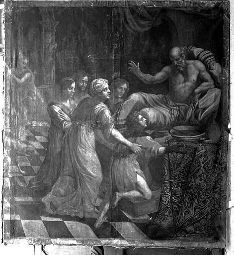 Peinture sur toile : La Bénédiction de Jacob