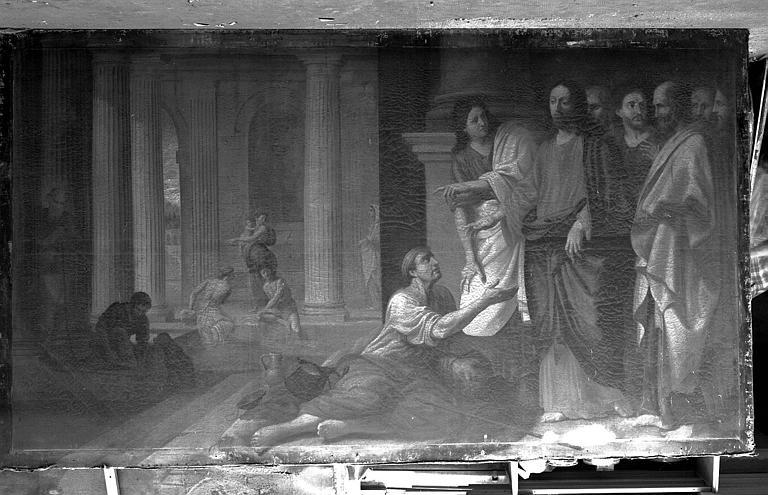 Peinture sur toile : Le Christ et le paralytique