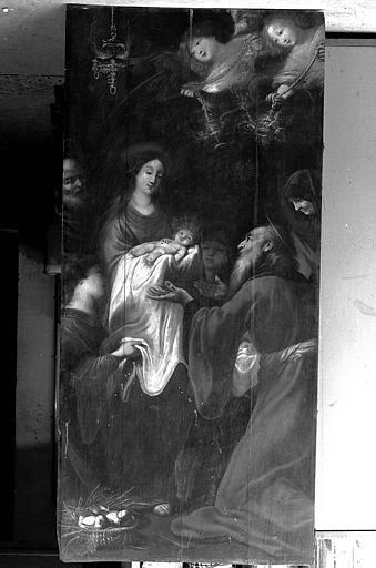 Peinture sur toile : Présentation au Temple