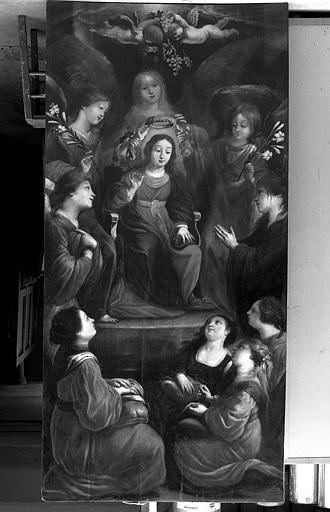 Peinture sur toile : Ecce Virgo présentée par des anges