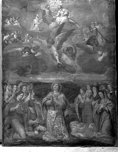 Peinture sur toile : La Trinité, sainte Ursule et les onze mille vierges