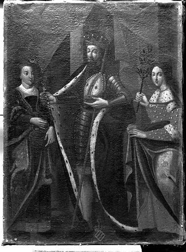 Peinture sur toile : Saint Goëry, sainte Précie et sainte Victorine