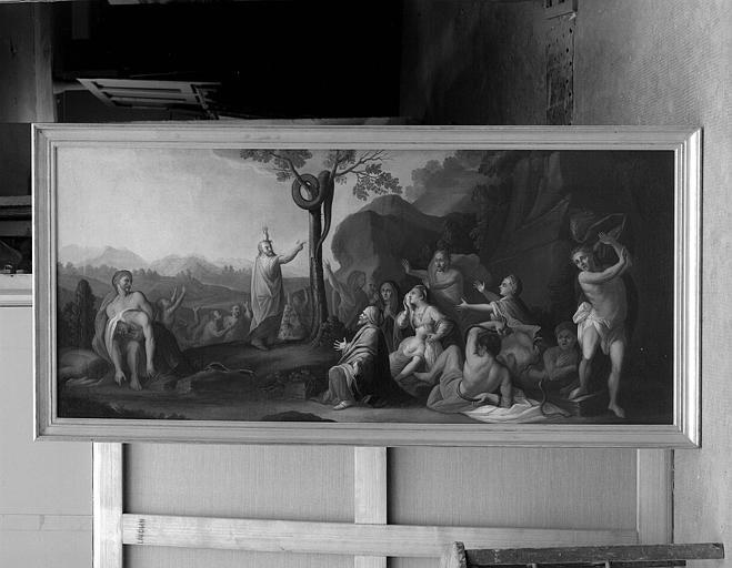 Peinture sur toile : Moïse et le serpent d'Airain