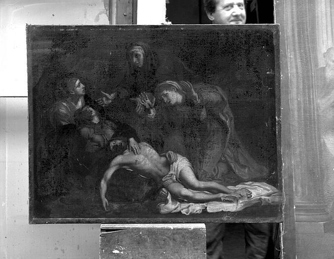 Peinture sur toile : Déploration sur le Christ mort