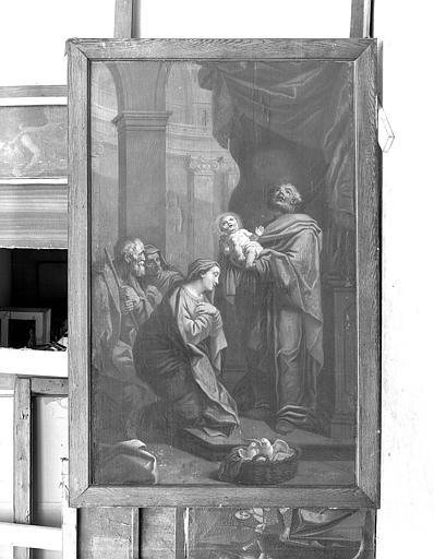 Peinture sur toile (boiserie de la porte du Trésor) : Présentation au Temple