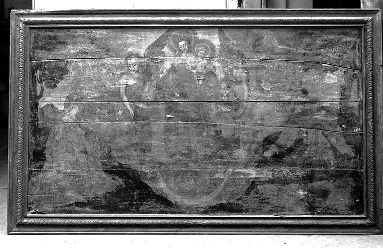 Panneau peint et cadre sculpté : Donateurs