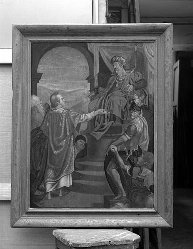 Panneau peint : Jugement de saint Etienne
