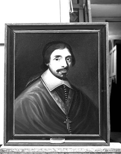 Ensemble de peintures sur toile représentant les évêques de Tréguier : Portrait de Balthazar Grangier (1646-1679)