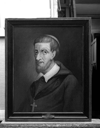 Ensemble de peintures sur toile représentant les évêques de Tréguier : Portrait de Noël Deslandes (1635-1645)