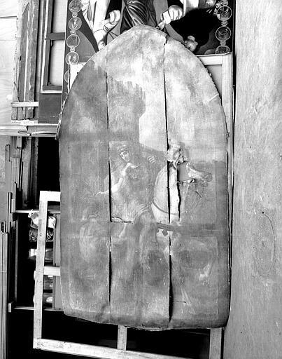 Peinture sur toile : Saint Martin donnant son manteau à un pauvre