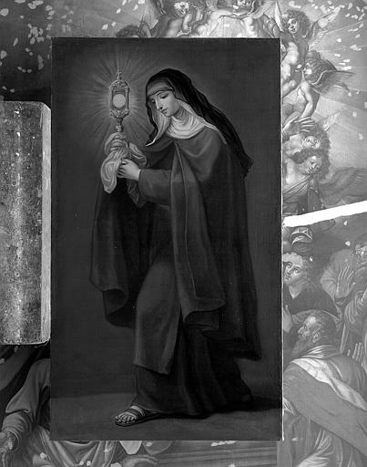Peinture sur toile : Sainte Claire