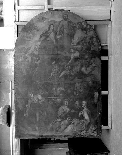 Peinture sur toile (retable de la chapelle Notre-Dame) : L'Assomption