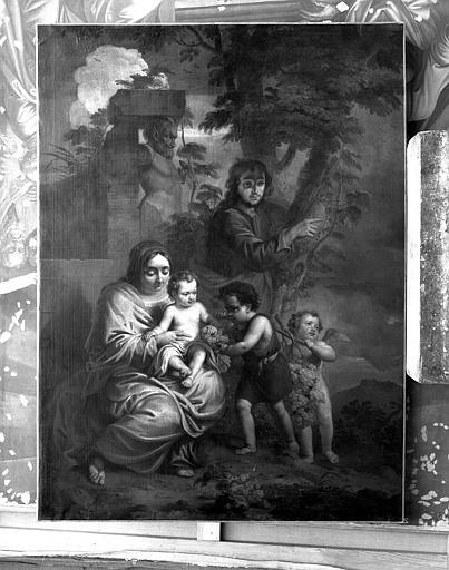 Peinture sur toile : Sainte Famille aux grappes de raisin