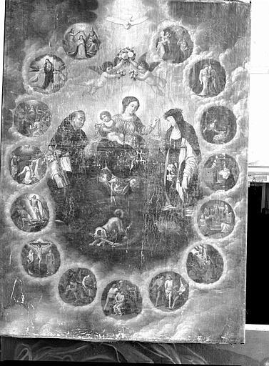 Peinture sur toile (retable de la chapelle du Rosaire) : Le Rosaire