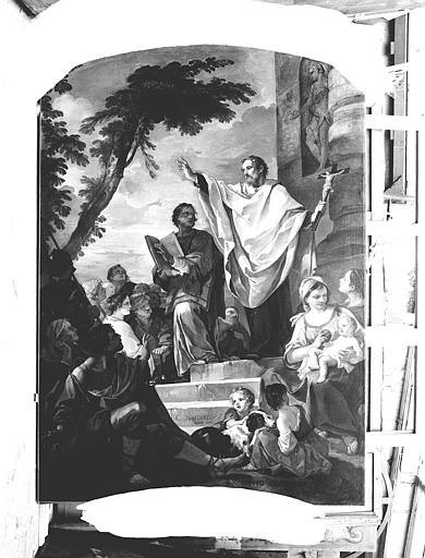Peinture sur toile : Prédication de saint François-Xavier