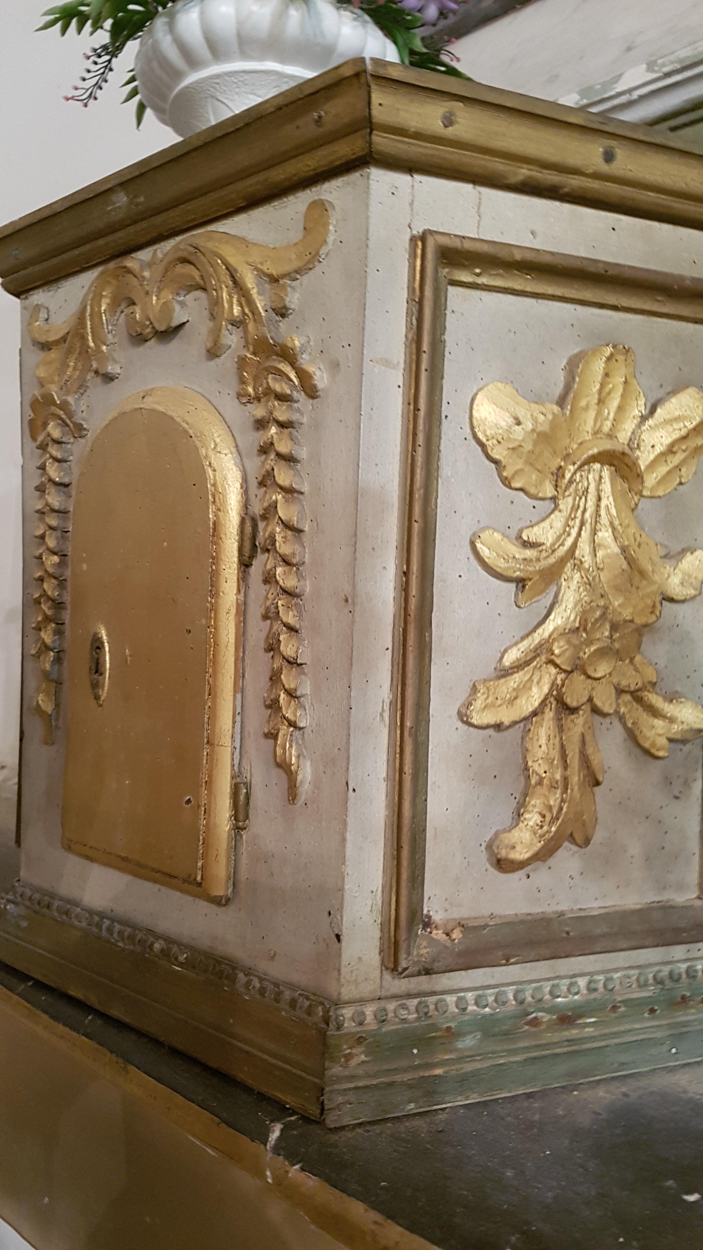 tabernacle, détail : porte