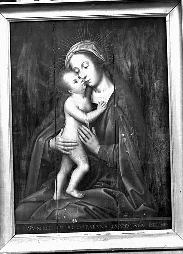 Panneau peint : Vierge à l'Enfant dite Notre-Dame-de-la-Recouvrance