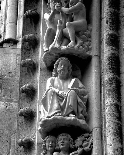 Portail du transept nord, 4e sujet de la voussure (à l'est de la rose) : Dieu le Père