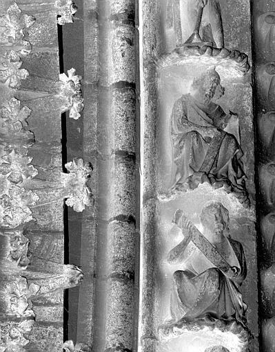 Portail du transept nord, 7e et 8e sujets de la voussure (à l'ouest de la rose)