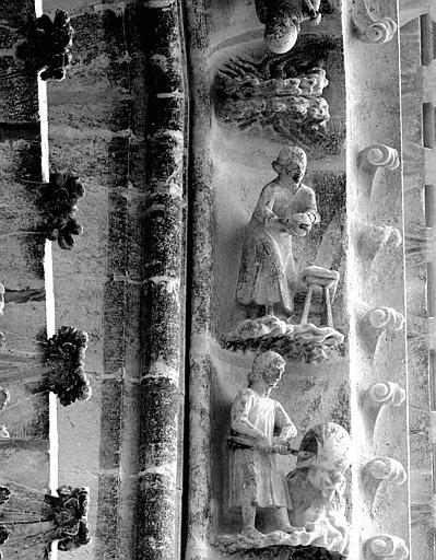 Portail du transept nord, 10e et 11e sujets de la voussure (à l'ouest de la rose)