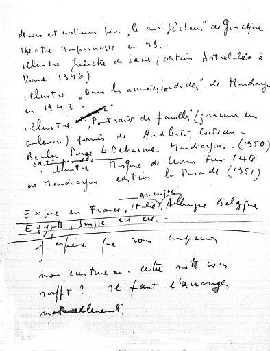 Deuxième partie des notes pour la biographie de Léonor Fini