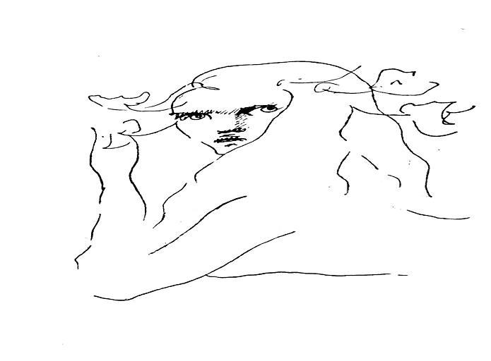 Dessin : Portrait de Léonord Fini en buste