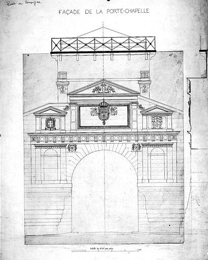Elévation de la façade de la Porte-Chapelle