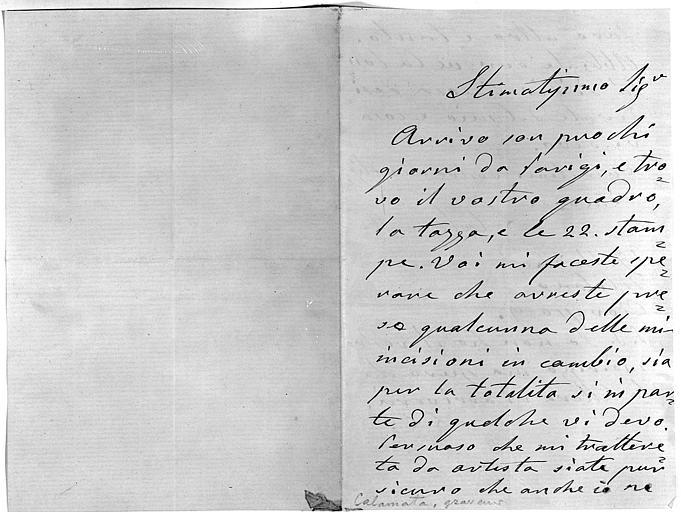 Lettre, folio 1