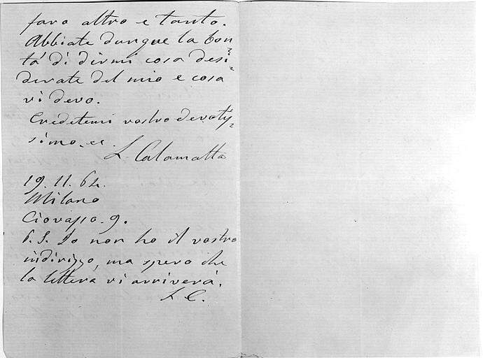 Lettre, folio 2
