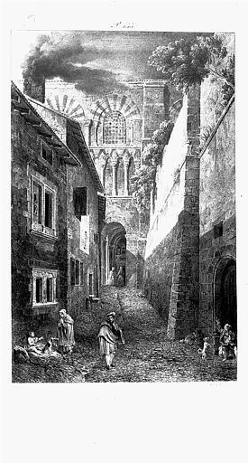 Lithographie : Rue des Pèlerins-au-Puy
