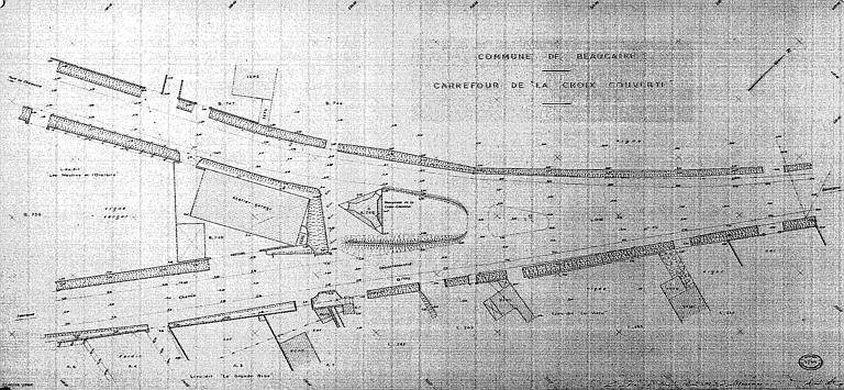 Plan du carrefour de la Croix Couverte