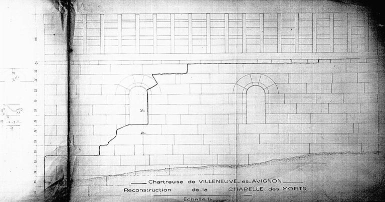 Reconstruction de la chapelle des Morts : Elévation