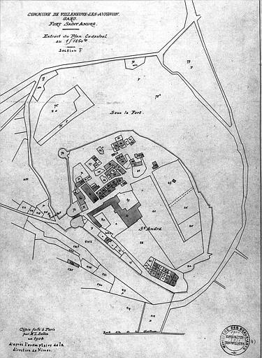 Plan cadastral aquarellé, section F