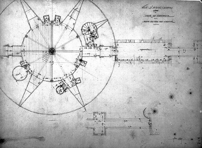 Plan du rez-de-chaussée de la tour de Constance