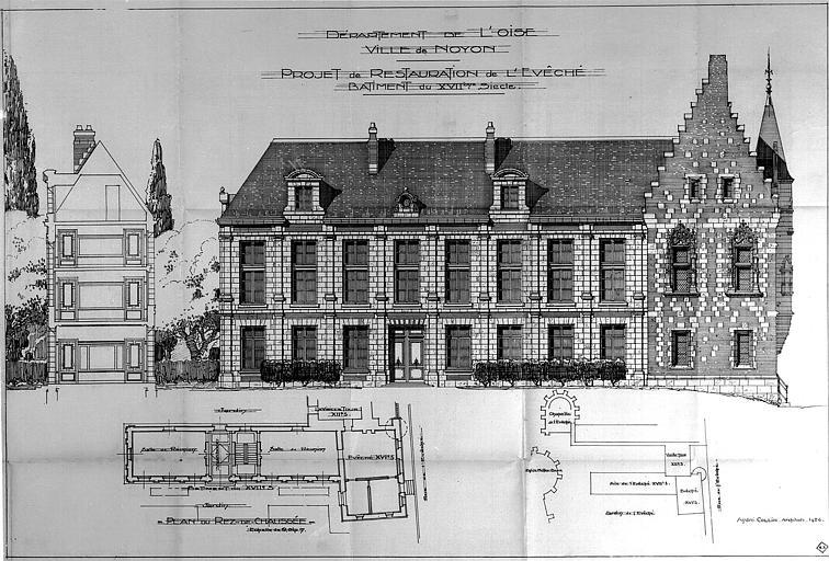 Projet de restauration : Plans, coupe et élévations