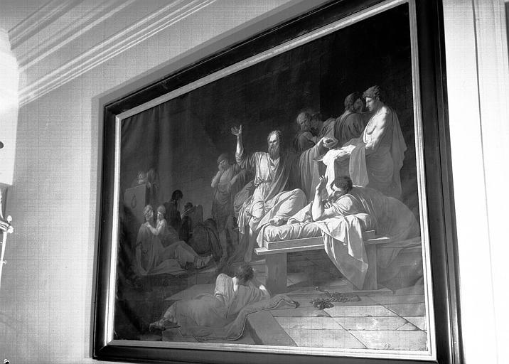 Peinture sur toile : Mort de Socrate