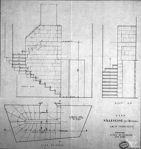 Archives : Détails de l'escalier