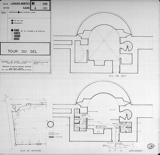 Plan de situation et plan du rez-de-chaussée (état des lieux et aménagement)