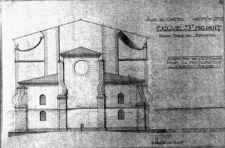 Elévation de la façade place des Boucheries