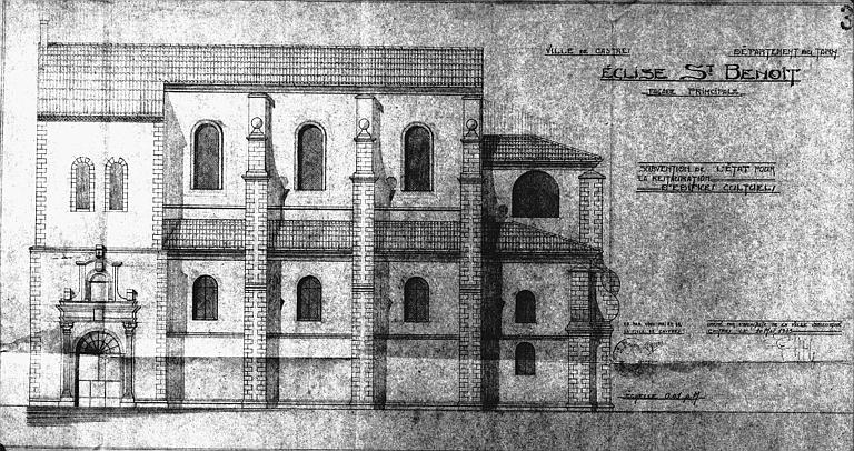 Elévation de la façade principale