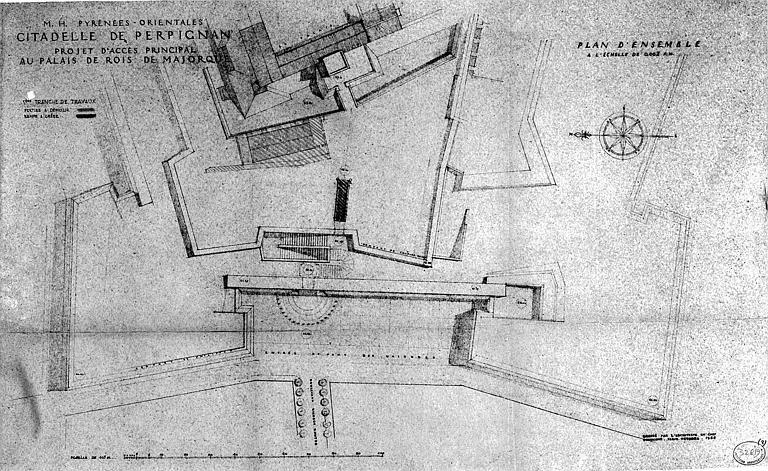Projet d'accès principal au palais des Rois de Majorque : Plan d'ensemble