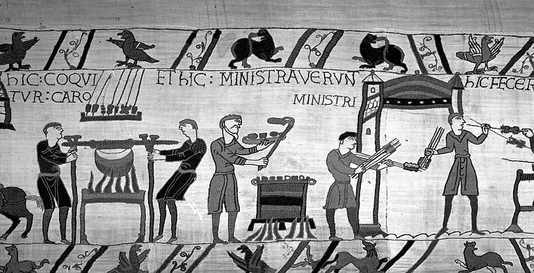Tapisserie de Bayeux (avers),  53B : Scènes de cuisine