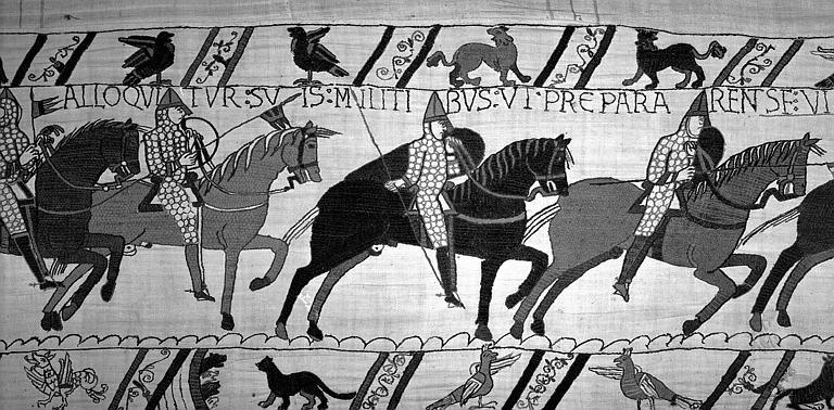 Tapisserie de Bayeux (avers),  65B : Cavaliers normands