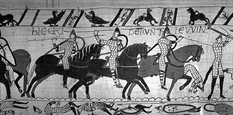 Tapisserie de Bayeux (avers),  71B : Cavaliers normands